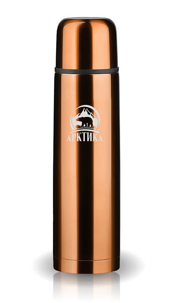 Термос Арктика (1 литр) с узким горлом классический, кофейный