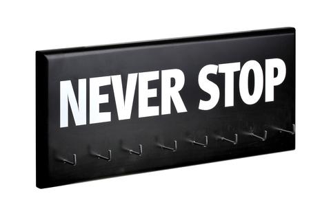 Держатель для медалей Never stop (black)
