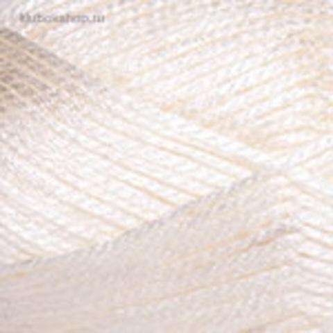 Пряжа YarnArt Melody 880 белый, фото