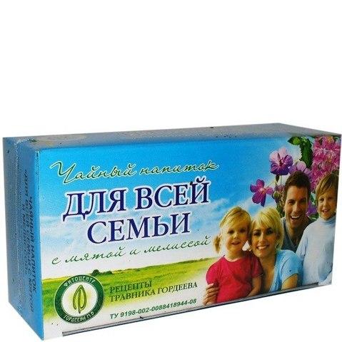 Травник Гордеев для всей семьи с мятой и мелиссой, ф/п, 20 шт, кор.