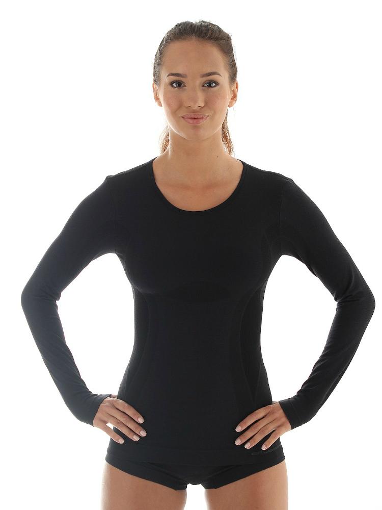 Женская терморубашка Brubeck Comfort Wool (LS12150) черная