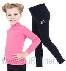Комплект термобелья из шерсти мериноса Norveg Soft City Style Pink-Black детский