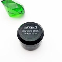 Гель-краска MONAMI  Stamping BLACK, 5 гр (Черна...