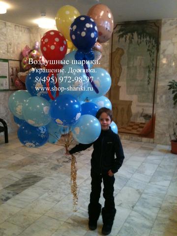 букет шаров на выписку из роддома www.shop-shariki.ru