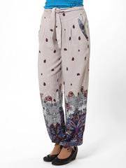 54 брюки женские, серо-синие