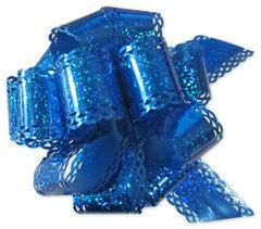 Бант-шар голография (синий) с каймой 50х160 большой