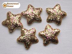 Мягкая блестящая звезда золотая №5