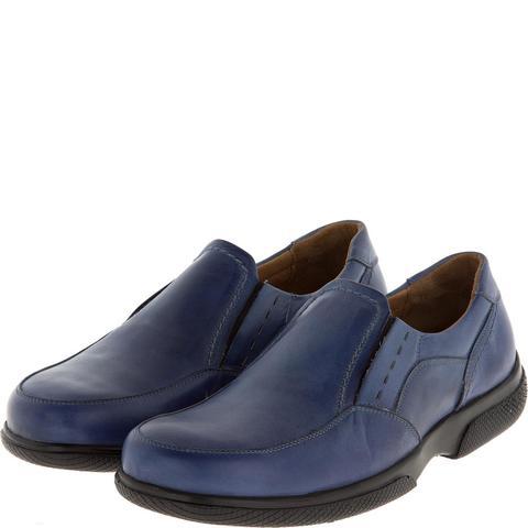 582367 полуботинки мужские синие. КупиРазмер — обувь больших размеров марки Делфино