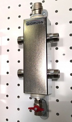 Гидравлический разделитель из нержавеющей стали AISI 304 GRSS-60-25 (Pmax=60 кВт, G 1˝, Qmax=2.6 м3/ч) + монтажный комплект K.TGR