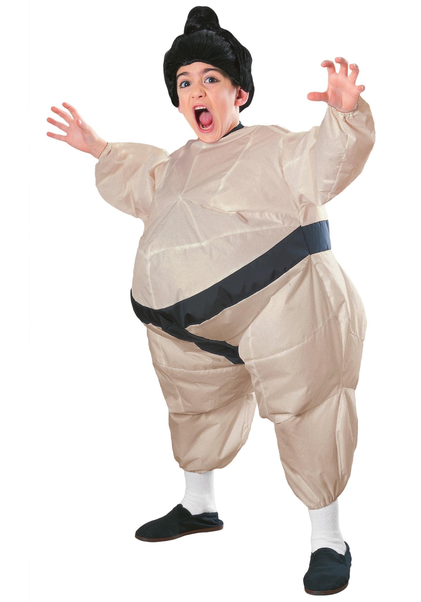 Надувной костюм Сумоист детский