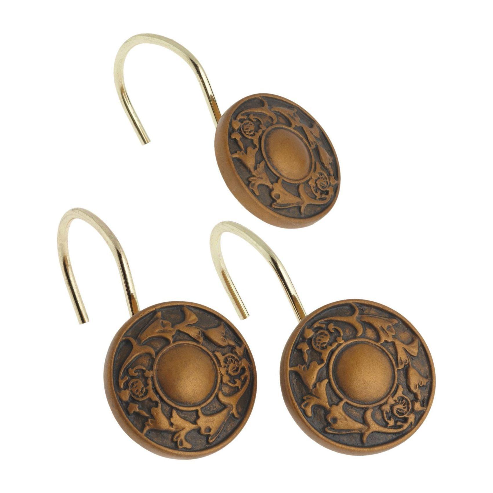 Набор из 12 крючков для шторки Regency Bronze от Carnation Home Fashions