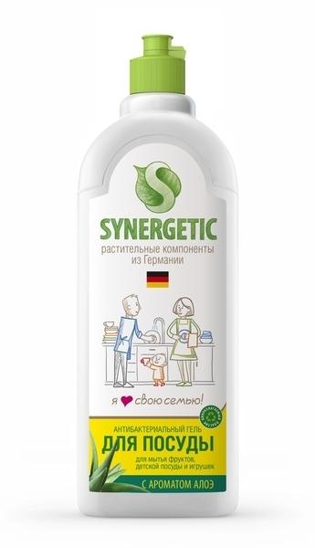Жидкость для мытья посуды, SYNERGETIC, алоэ, 500 мл.