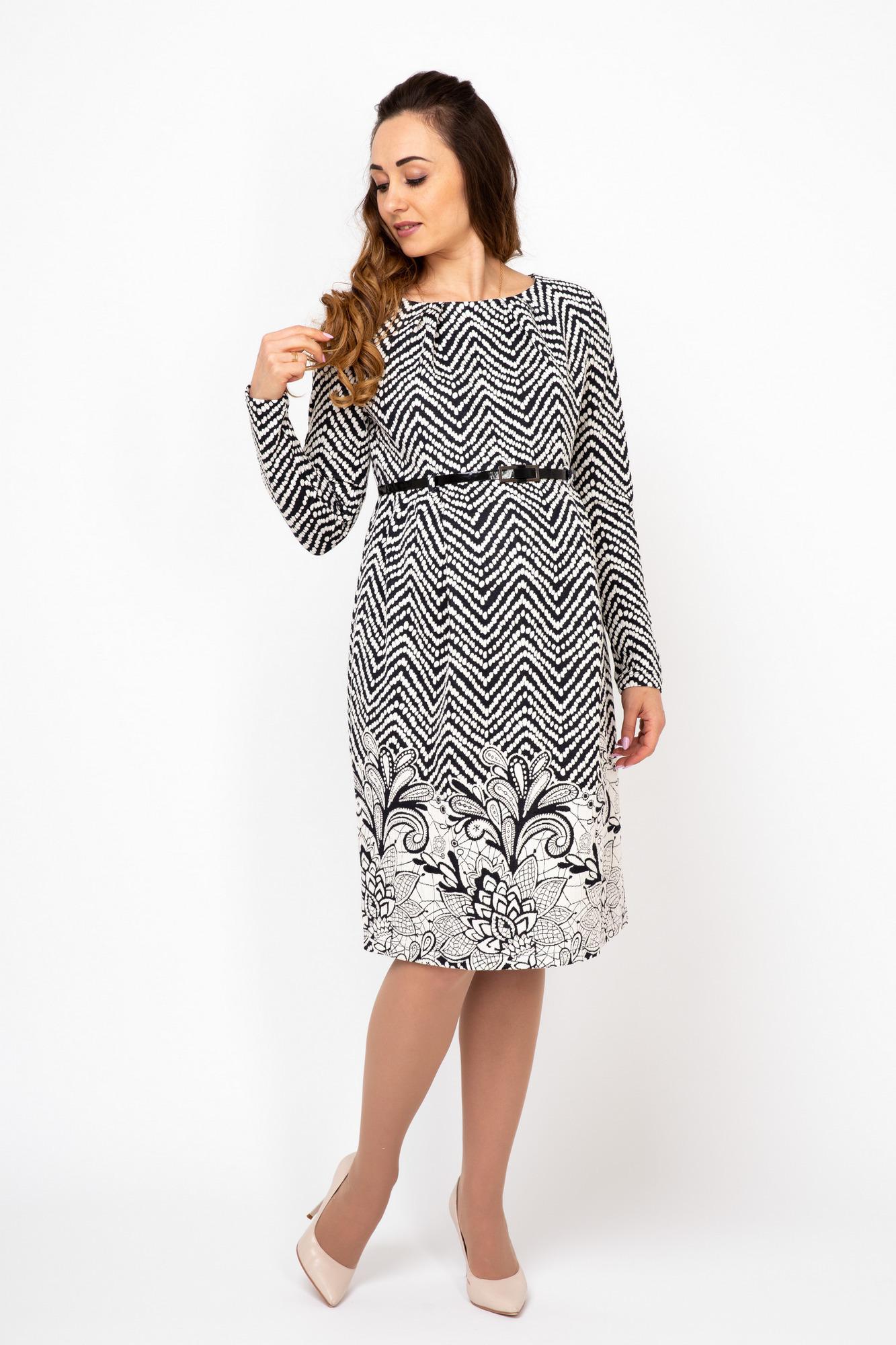 Платье 06131 синий/белый
