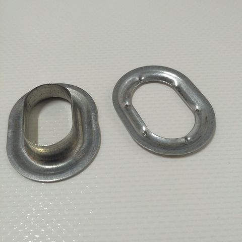 Люверс овальный 22,5 х 13,5 оцинкованная сталь
