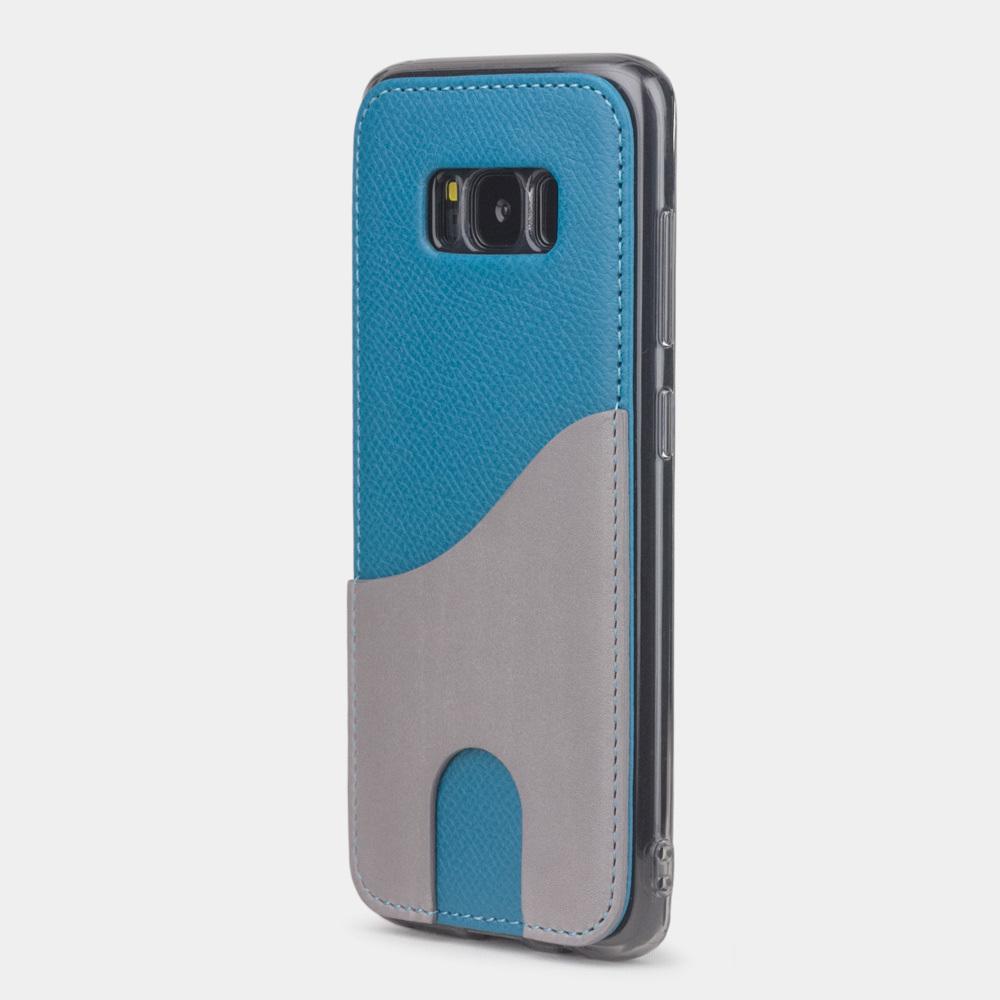 Чехол-накладка Andre для Samsung S8 из натуральной кожи теленка, морского цвета