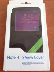 Чехол-ресивер Wireless Charging S-View cover для Note 4