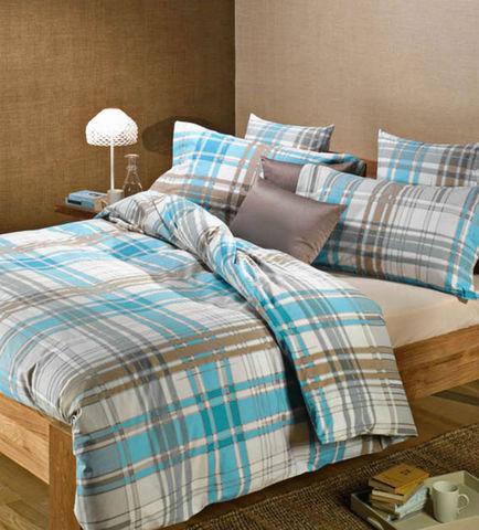Постельное белье 2 спальное евро Caleffi Finlandia бирюзовое