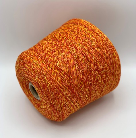 Бобинная пряжа Loro Piana (пр.Италия), art. CASHMERE 2/48х8, 300м/100гр. 100%кашемир, цвет- Оранжево-желтый, арт.2713