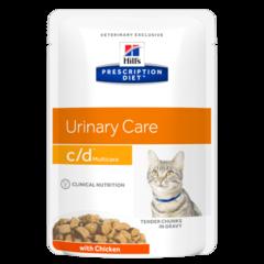 Пауч для кошек Hill`s Prescription Diet c/d Multicare, профилактика МКБ, растворение струвитов, с курицей