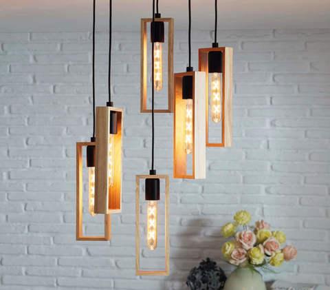 Лампа LED филаментная из стекла янтарного цвета Eglo AMBER LM-LED-E27 4W 360Lm 2200K T30 11679 2