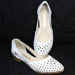 Туфли балетки летние женские Evromoda 286.85 Summer White.