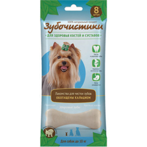Деревенские лакомства Зубочистки кальциевые для собак мелких пород 60г