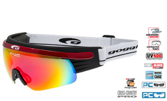 Лыжные очки-маска Goggle Shima Red-Rainbow