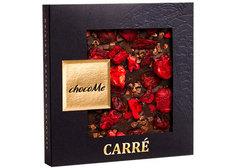 Горький шоколад с корицей, какао-бобами, вишней и брусникой, 50г
