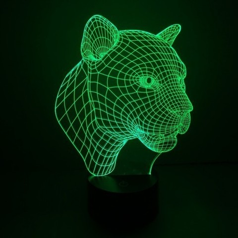 Светильники 3D Тигр