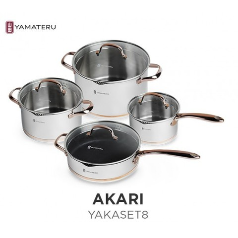 Набор кастрюль Yamateru Akari 8 предметов