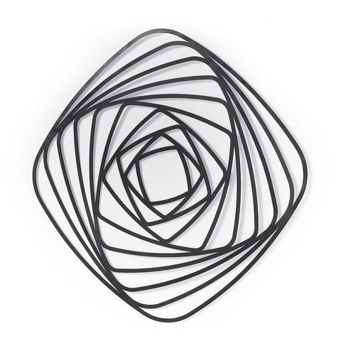 Настенная панель Univers металлическая черная
