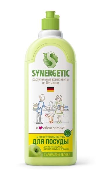 Жидкость для мытья посуды, SYNERGETIC, яблоко, 1 л.