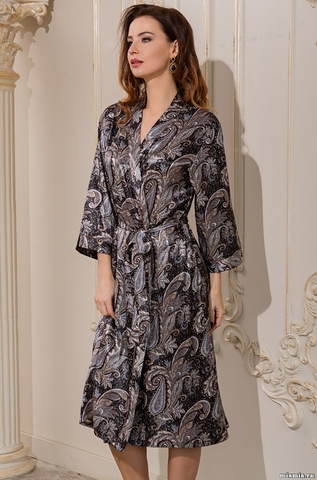 Длинный халат–кимоно Mia-Amore 3129 DONATELLA (70% шелк)