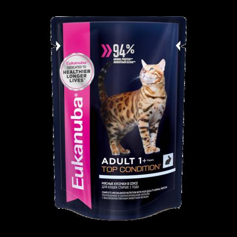 Eukanuba Adult Top Condition Rabbit Консервы для взрослых кошек с кроликом