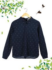 21058 рубашка женская, темно-синяя