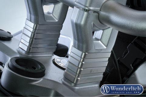 Проставки для повышения руля 40мм BMW R1200GS/GSA - серебро
