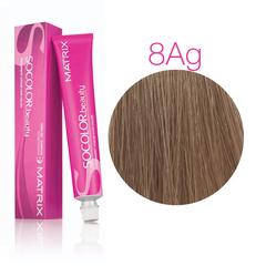 Matrix Socolor Beauty 8AG светлый блондин Пепельно-золотистый, стойкая крем-краска для волос 90 мл