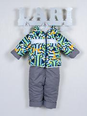 Костюм Кроха курточка + полукомбинезон (серый/рисунок(абстракция) 68-74 см