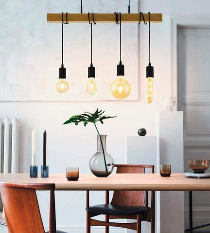 Лампа LED филаментная из стекла янтарного цвета Eglo AMBER LM-LED-E27 4W 360Lm 2200K T30 11679 3