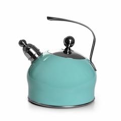 5962 FISSMAN Чайник для кипячения воды PALOMA 2,5л, цвет АКВАМАРИН (нерж.сталь)