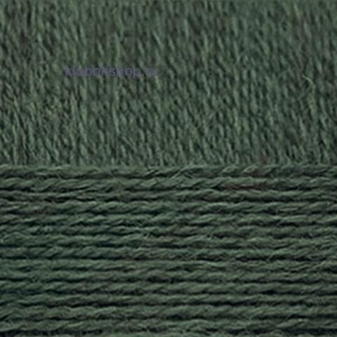 Пряжа Деревенская (Пехорка) 453 Темно-зеленый