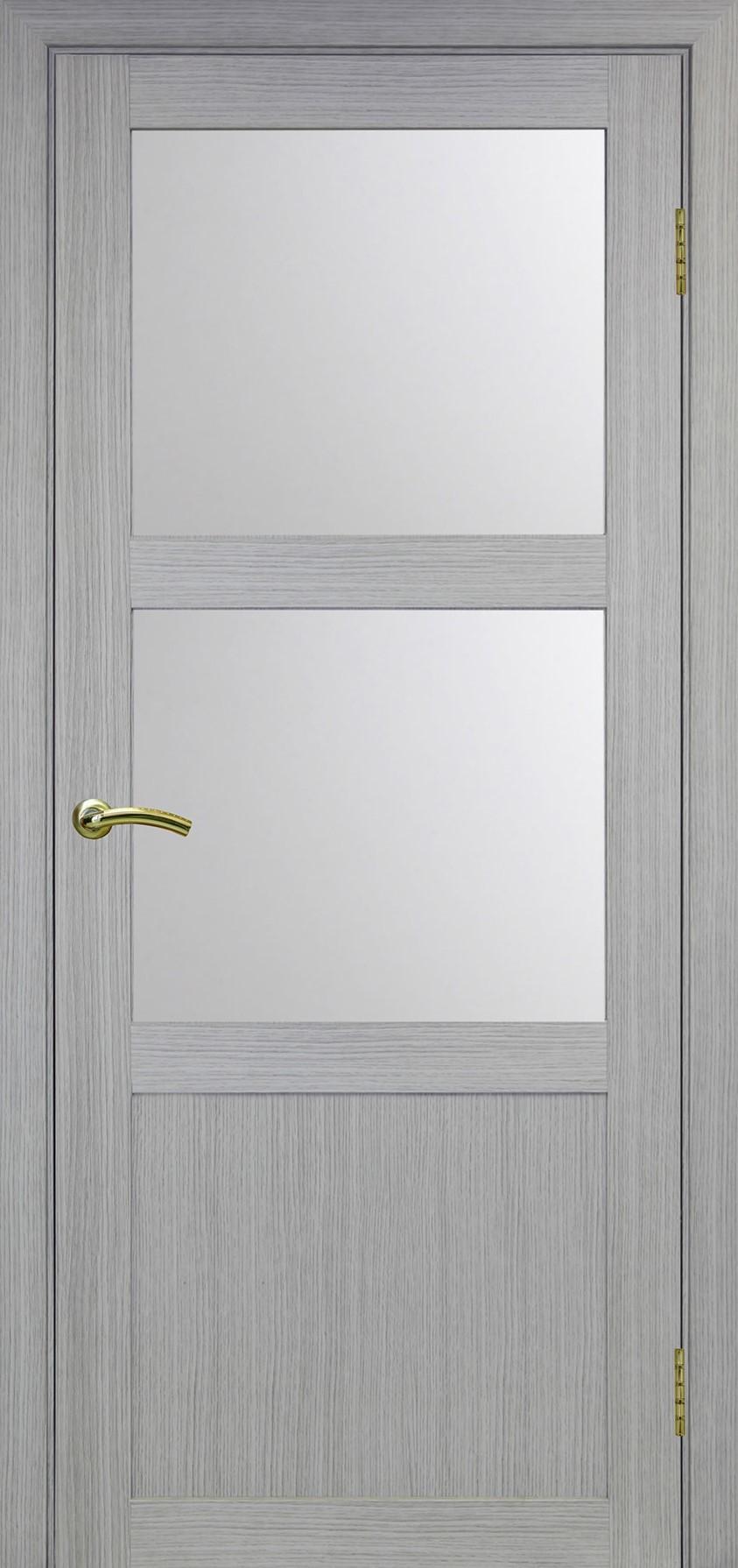 Турин 530 Дуб серый FL ЭКО-шпон Остекление №221 Мателюкс, Двери OPTIMA PORTE