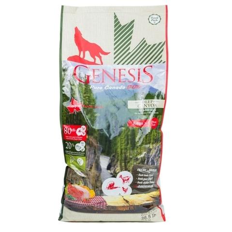 Genesis Pure Canada Deep Canyon Adult для взрослых собак всех пород с курицей, ягненком и козой 11.79 кг