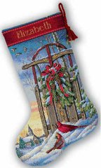 DIMENSIONS Christmas Sled Stocking