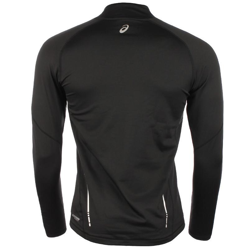 Мужская беговая рубашка Asics Ess Winter 1/2 Zip (114638 0904) черная