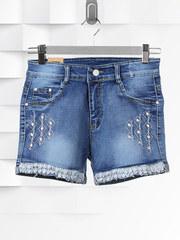 Q-8022 шорты женские, синие