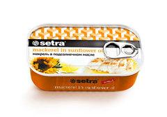 Филе макрели в масле с лимоном Setra, 125г