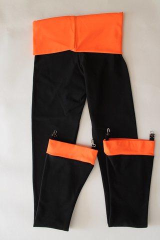 Термокомплект, рост 116  (черный, вставки - оранжевые)