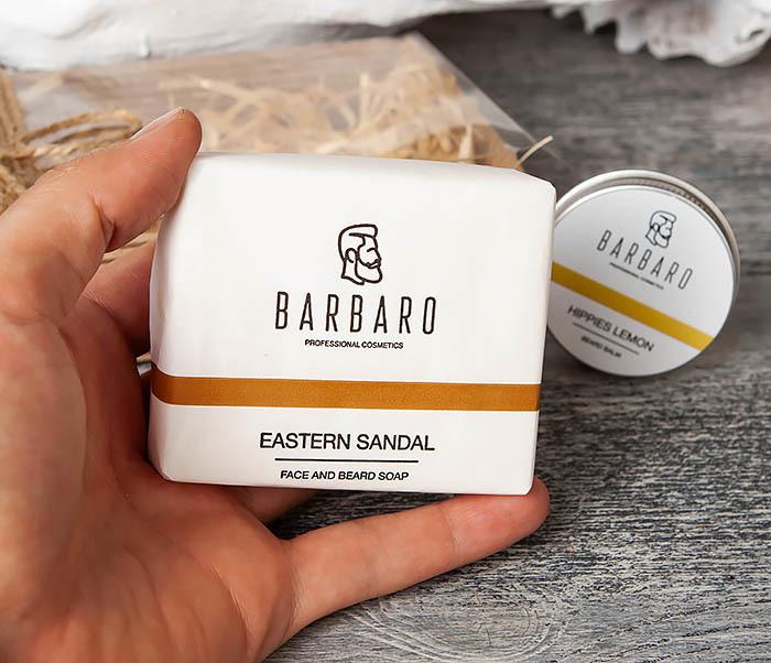RAZ2003-3 Мужской набор Barbaro, мыло и бальзам для бороды фото 04
