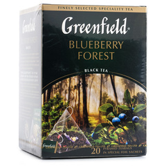 Чай чёрный Greenfield Blueberry Forest 20 пирамидок